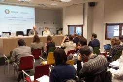 Vista de los asistentes al encuentro celebrado en CENER sobre el programa Horizonte2020.