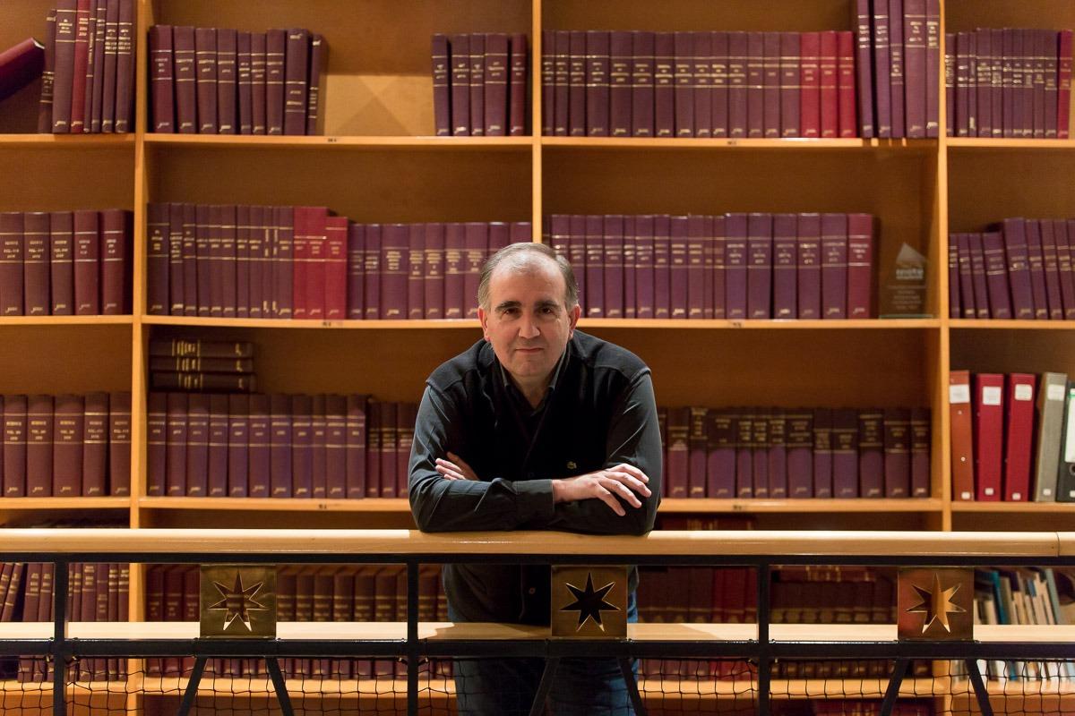 Miguel Izu en la presentación del libro 'El alma del vino'.