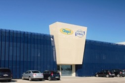 Fachada principal de Grupo APEX en  su sede de Ribaforada.