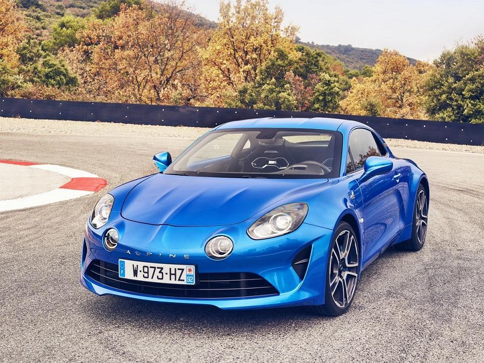 Imagen promocional del nuevo Renault Alpine 100 'Première Edition'.