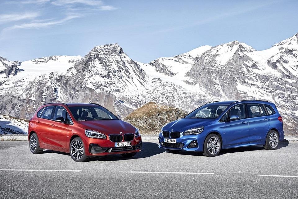 Imagen promocional de los nuevos BMW Serie 2 Activer Tourer y Gran Tourer que se empezarán a comercializar este próximo mes de marzo.