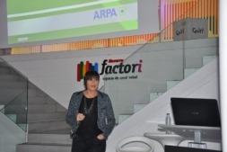 Un momento de la intervención de Oliva Vallejos en Navarra Factori de CEIN.