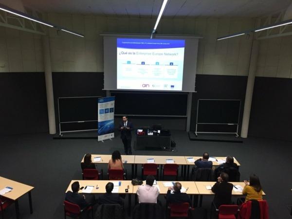 Un momento de la jornada informativa del Programa H2020 celebrada en AIN.