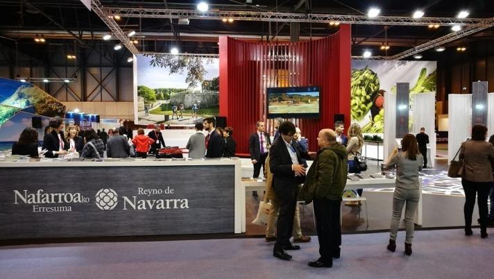 El espacio de Navarra en la feria FITUR.