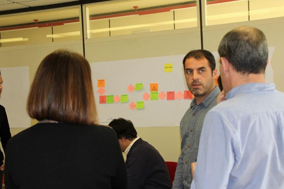 Un momento de la formación sobre Metodología LEAN promovida por CNTA y AIN.