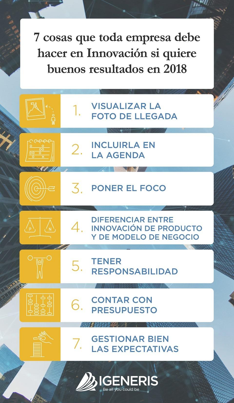 Infografía 7 cosas que toda empresa debe hacer si quiere buenos resultados en 2018_IGENERIS