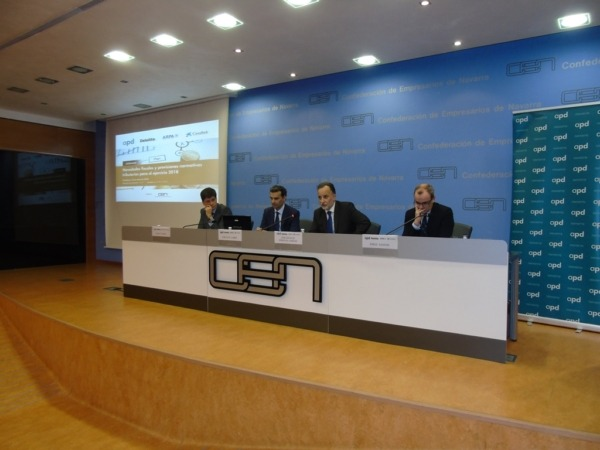 De izquierda a derecha, Pablo Pajares, José Luis Larriu, José Antonio Arrieta y Jorge Santos.