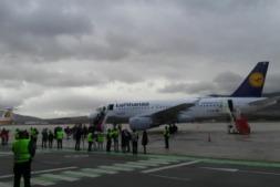 Vuelo inaugural de Lufthansa entre Frankfurt y Pamplona del pasado noviembre.
