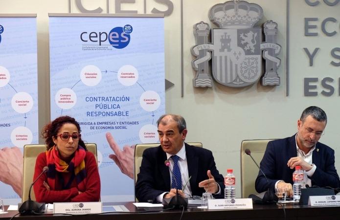 Miguel Laparra durante el encuentro dedicado a Contratación Responsable celebrado en Madrid.