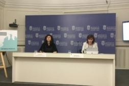Un momento de la presentación de la oferta turística de Pamplona en FITUR 2018.