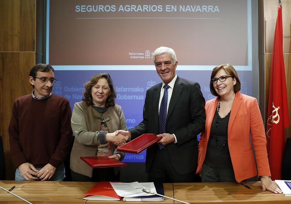 De I a D: Ignacio Gil (Desarrollo Rural); Isabel Elizalde (Desarrollo Rural); Ignacio Machetti (Agroseguros) e Inmaculada Poveda (Agroseguro).