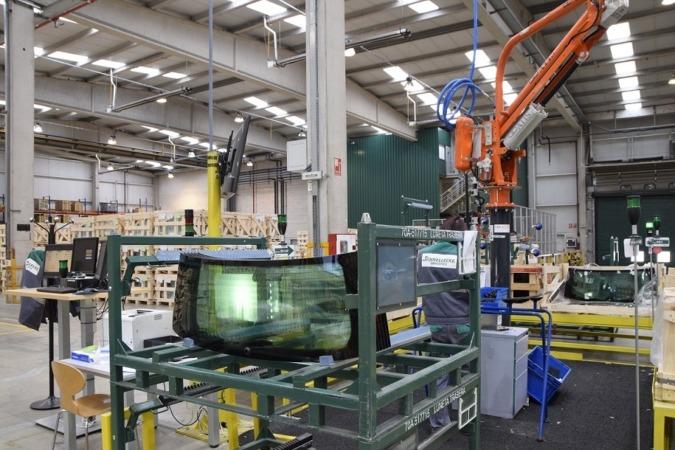 Interior de la factoría Schnellecke Logistic de Orkoien.