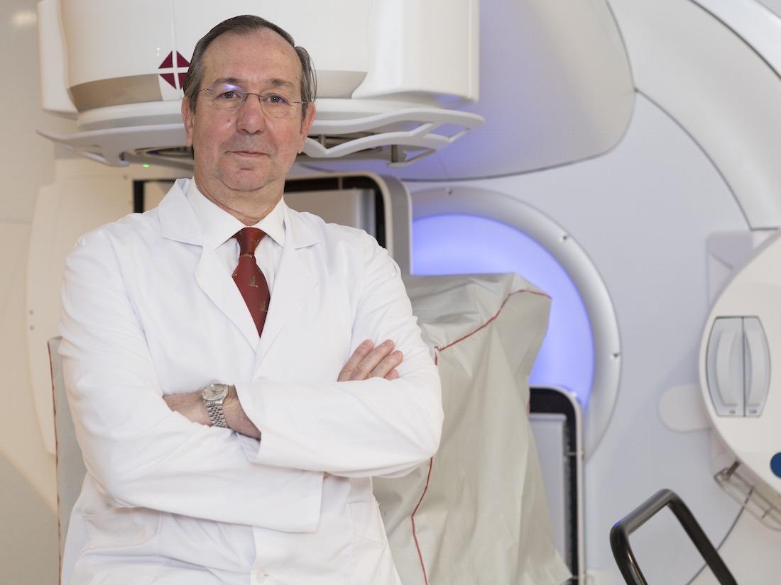 El Dr. Felipe Calvo, nuevo codirector de Oncología Radioterápica de la Clínica Universidad de Navarra, en las instalaciones de la sede de Madrid.