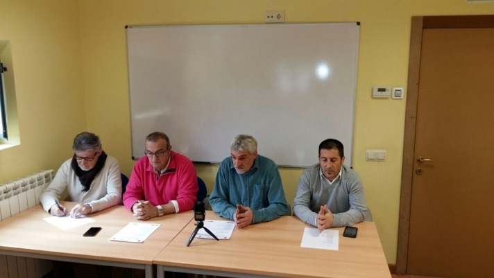 Representantes de Peralta, Marcilla y Falces en la presentación del  Programa Integrado de Formación y Empleo para la Ribera Alta.