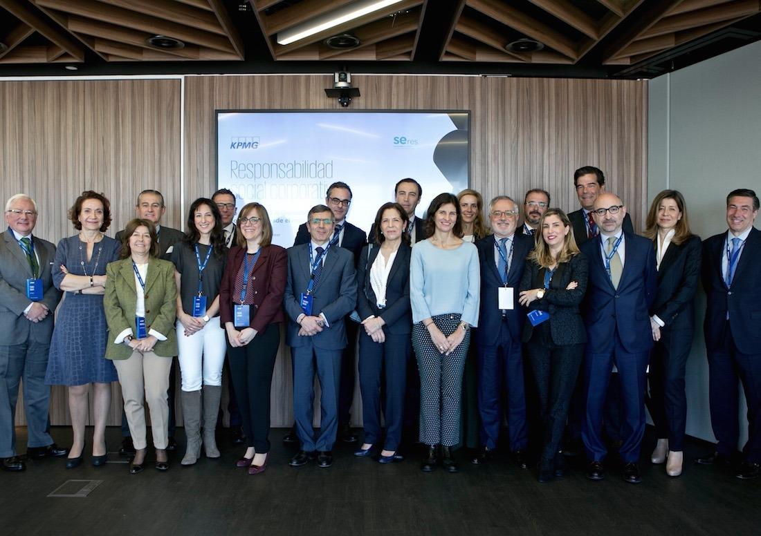 Imagen del acto de presentación de un estudio sobre la visión de la responsabilidad social corporativa en el consejo, que ha realizado la fundación SERES y KPMG. (FOTO CEDIDA)