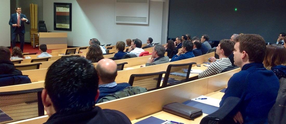 Javier Molina, durante el curso en ESIC