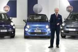 Luca Napolitano, director de la marca FIAT para EMEA posa delante de la gama Fiat 500 Mirror.