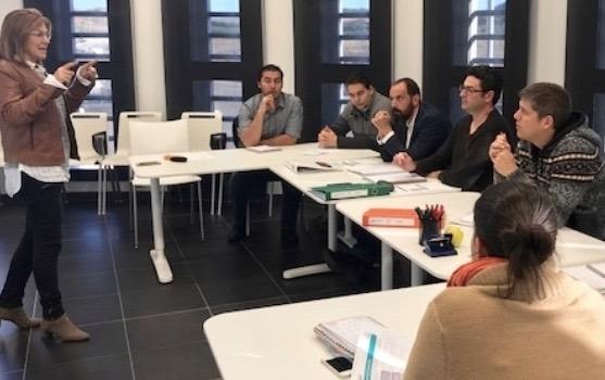 Varias de las startups durante una de las clases prácticas en CEIN.