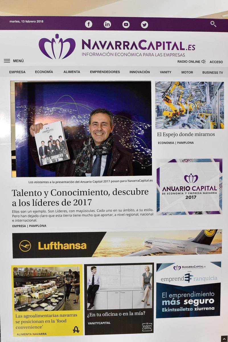 Presentación del Anuario Capital 2017 en Pamplona