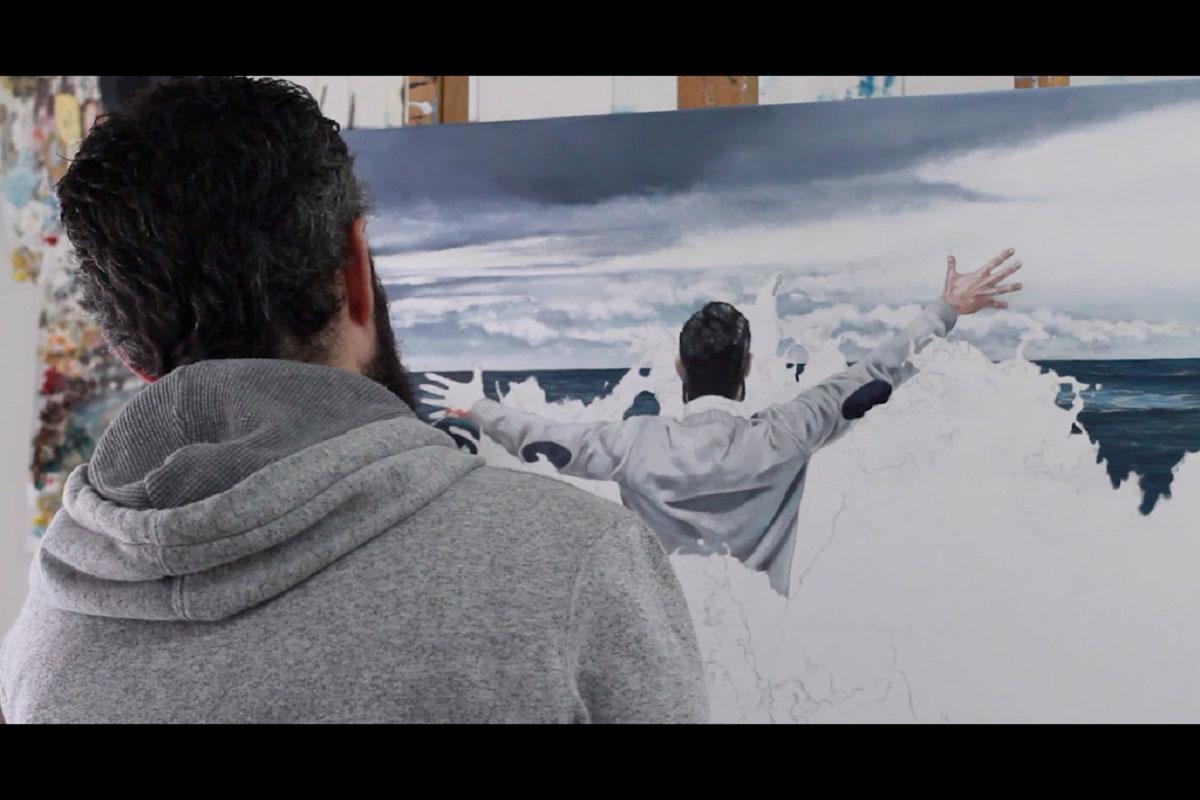 El pintor Rául Álvarez participa en el documental Emotio de Beatriz Echeverria.