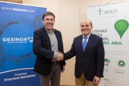 De I a D: Fernando Munárriz (GESINOR) y Francisco Arasanz (AECC). (FOTOS: Victor Rodrígo).