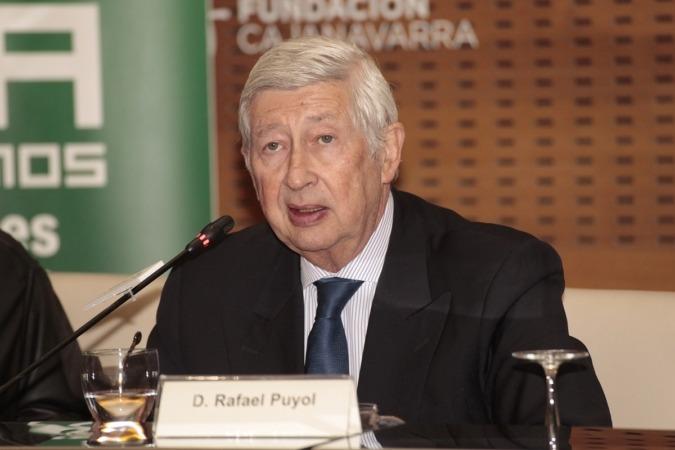 Rafael Puyol, demógrafo y presidente de SECOT España, en un momento de su intervención en Pamplona. (FOTOS: Javier Ripalda).