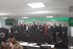 Los integrantes de la nueva ejecutiva de ASAJA.