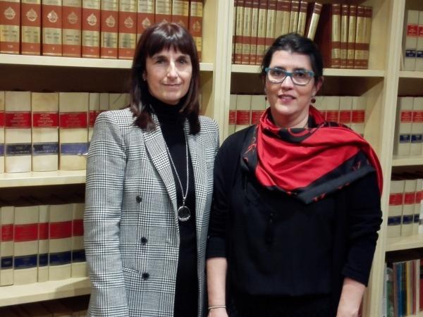 Arancha Yuste y Blanca Benito, AEDAF Navarra.