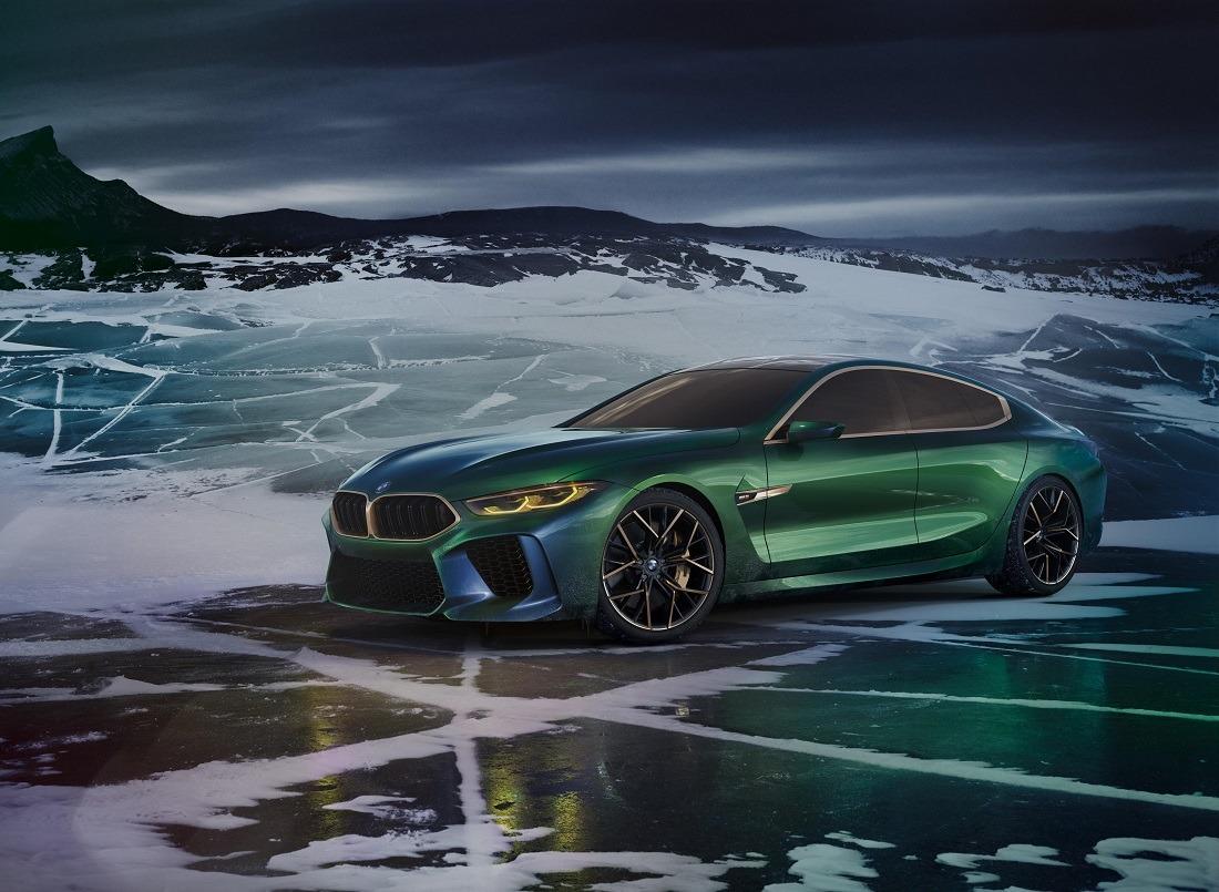 Imagen promocional del nuevo BMW M8 Gran Coupé Concept