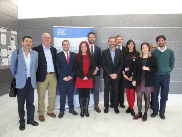Ponentes de la sesión organizada por el nodo Enterprise Europe Network de Universidad de Navarra.