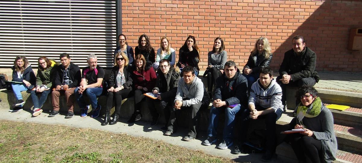 Participantes en la II Lanzadera de Empleo, en la ETI de Tudela.