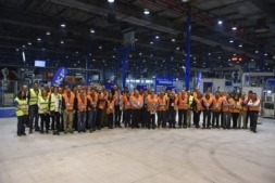 Foto de familia de los participantes en SKF del encuentro promovido por Fundación Industrial de Navarra.