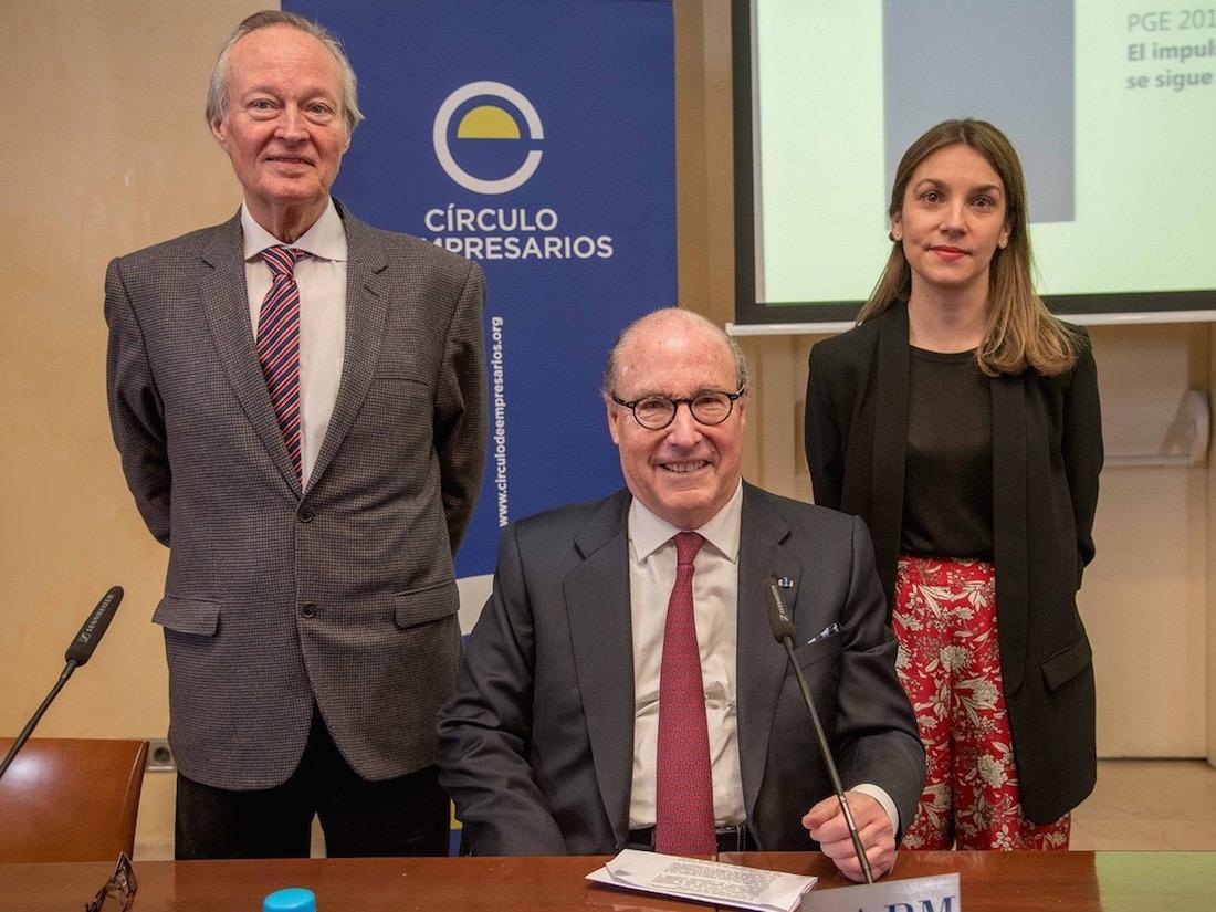 Josep Piqué, John de Zulueta y Alicia Coronil, del Círculo de Empresarios.
