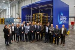 Los participantes en el encuentro de responsables de logística de Volkswagen.