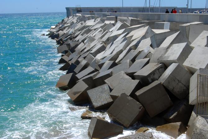 La innovación de PVT reforzará la seguridad de escolleras y otros elementos de protección de los puertos.