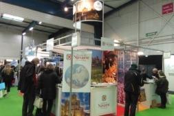 El stand de Turismo Navarra durante el Salón Mahama de Toulousse, en el que se promocionaron especialmente las Bardenas Reales.