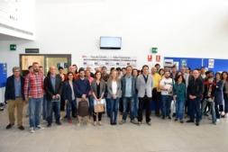 Participantes en la elaboración del Diagnóstico y autoridades, durante la presentación.