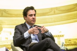 Pablo Zalba, durante su intervención en el Aula de Economía, organizada por Navarracapital.es en el mes de abril.