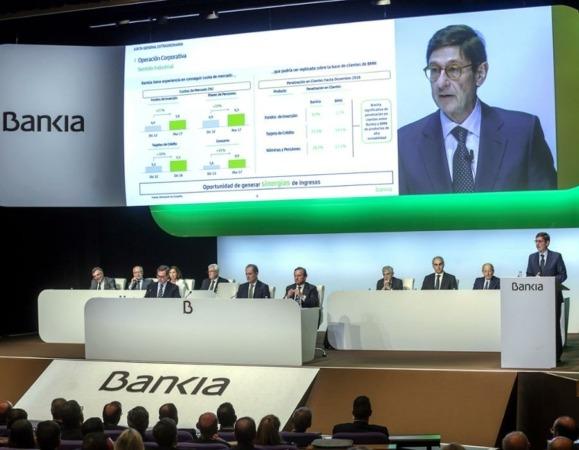 Panorámica de la Junta General de Accionistas de Bankia