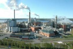 Vista de la planta que la compañía Smurfit  Kappa tiene en Sangüesa.