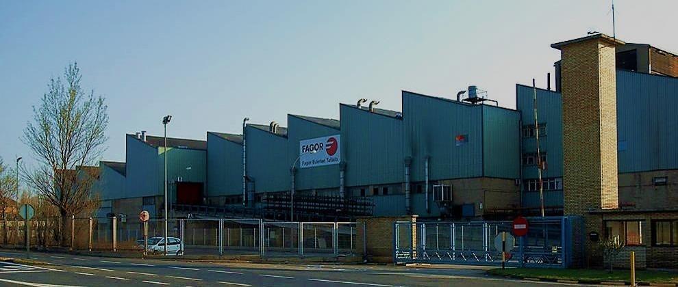 Exterior de la factoría que la empresa Fagor Ederlan tiene en Tafalla.
