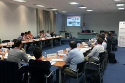 Los representantes de ACAN y Secpho, durante la reunión.