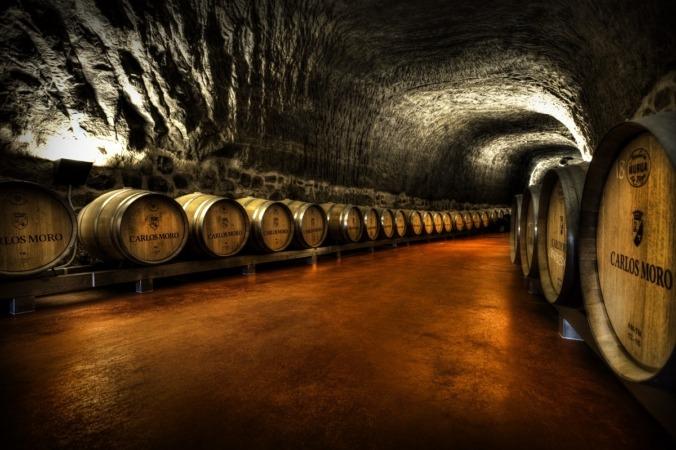 La Bodega Carlos Moro de DOCa Rioja tiene un calado subterráneo de 1.200 m2  (FOTO: Alba María Díez Soria).