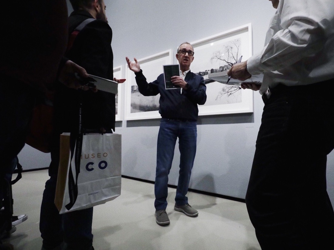 Carlos Cánovas durante la inauguración esta semana en el Museo ICO.