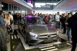 Imagen de la presentación en Comercial Gazpi del Mercedes Clase A.