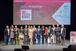 Foto de familia de los ponentes y organizadores del Hoy es Marketing Pamplona 2018