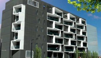 El primer edificio residencial en España passivhaus fue construido en Pamplona.
