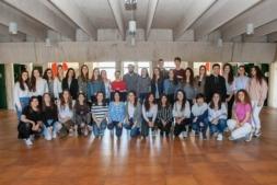 Estudiantes de Magisterio de la UPNA, donde predominan con claridad las alumnas.