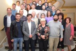 Foto de famlia de los profesionales y directivos participantes en el programa de Liderazgo Participativo de ANEL (FOTOS: Víctor Rodrígo)