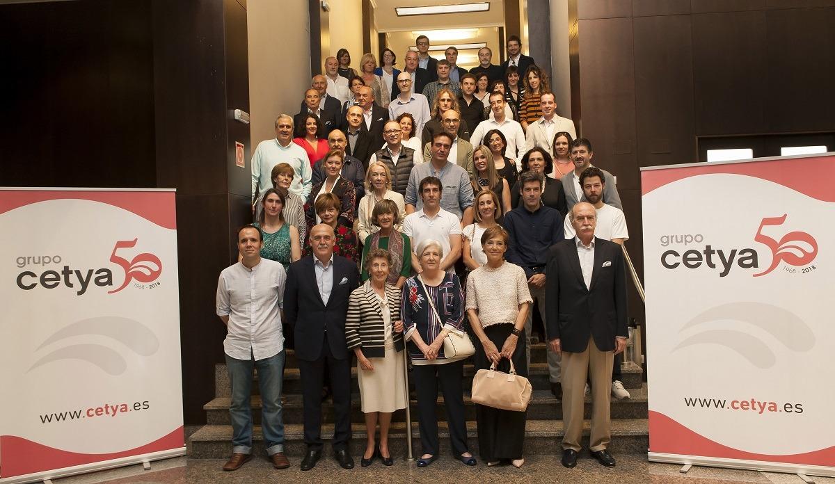 Los asistentes al acto con el que Cetya celebró su 50 aniversario. (FOTO: Víctor Rodrígo)